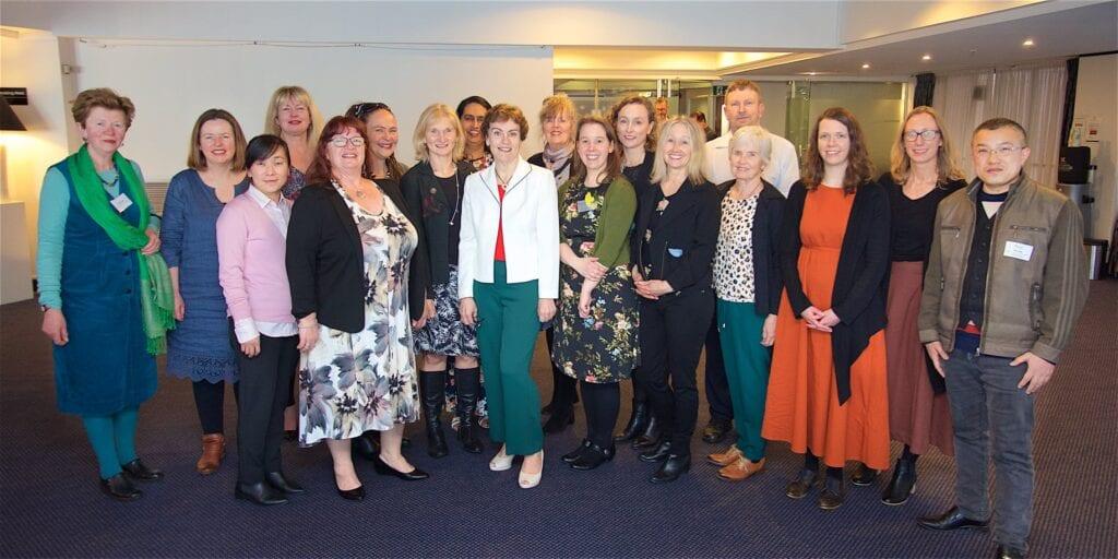 English Language Partners staff celebrate outgoing CE Nicola Sutton