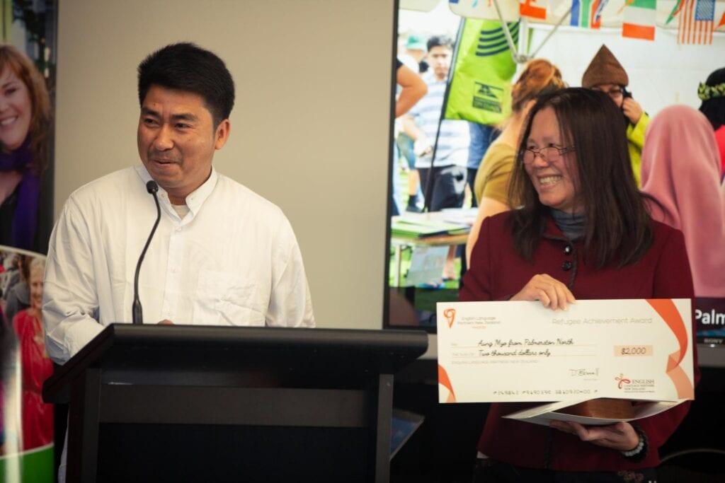 Aung Myo wins Refugee Achievement Award