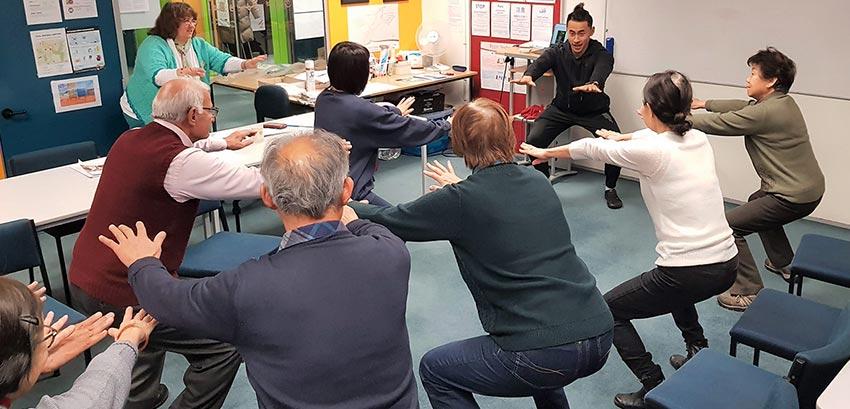 English language learners studying health