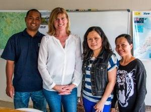 English learners with their ELP teacher in rural Waikato