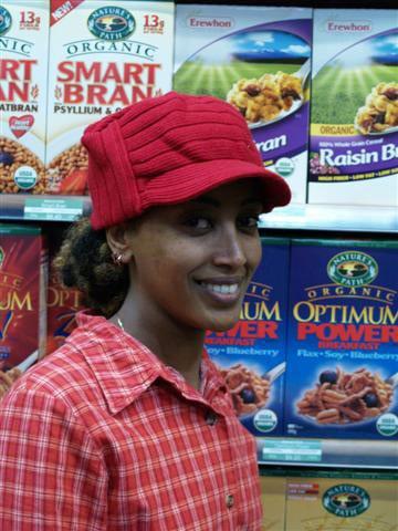 ELP student at work at Commonsense Organics