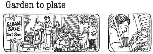 Garden to plate picture sequence