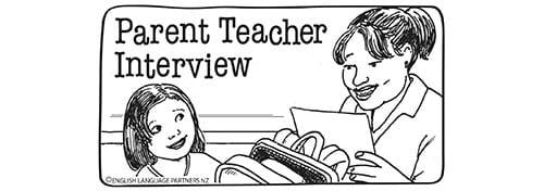 Parent teacher interview picture sequence