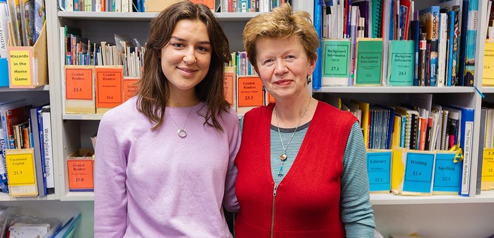 Helen volunteer home tutor with English Language Partners manager Zlata