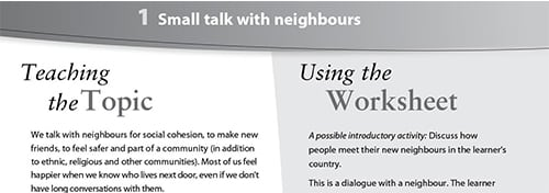 Small talk with neighbours