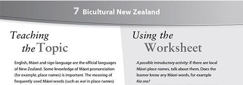 Bicultural New Zealand worksheet