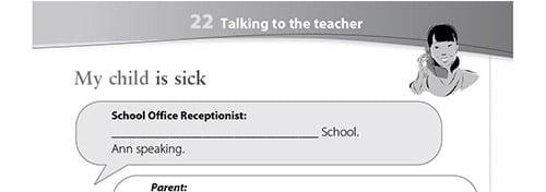 Talking to the teacher worksheet