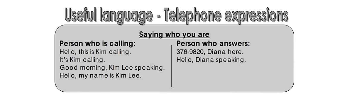 Using the phone unit worksheet