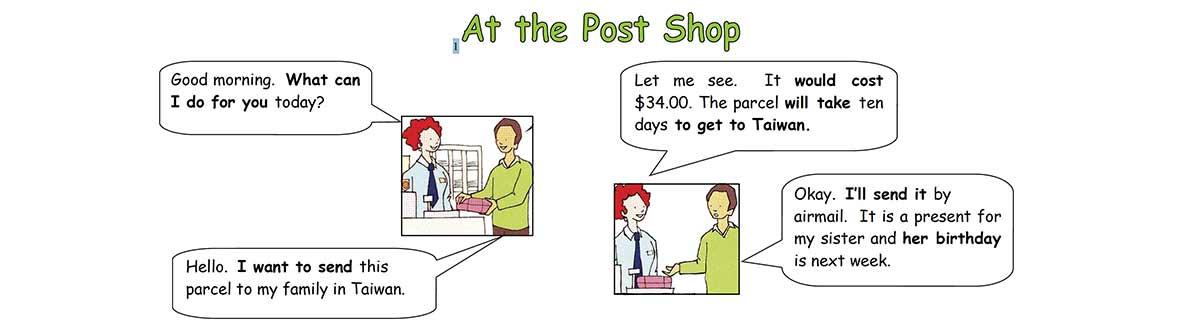 At the bank and post shop unit worksheet