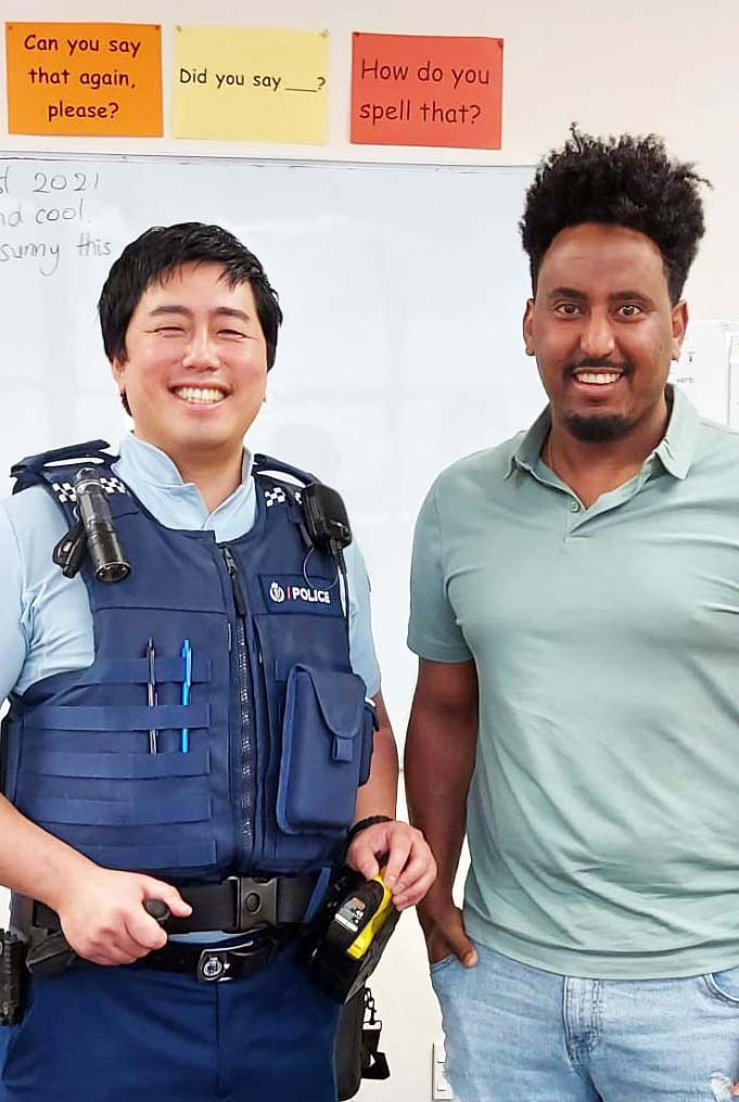 police visit to english language partners