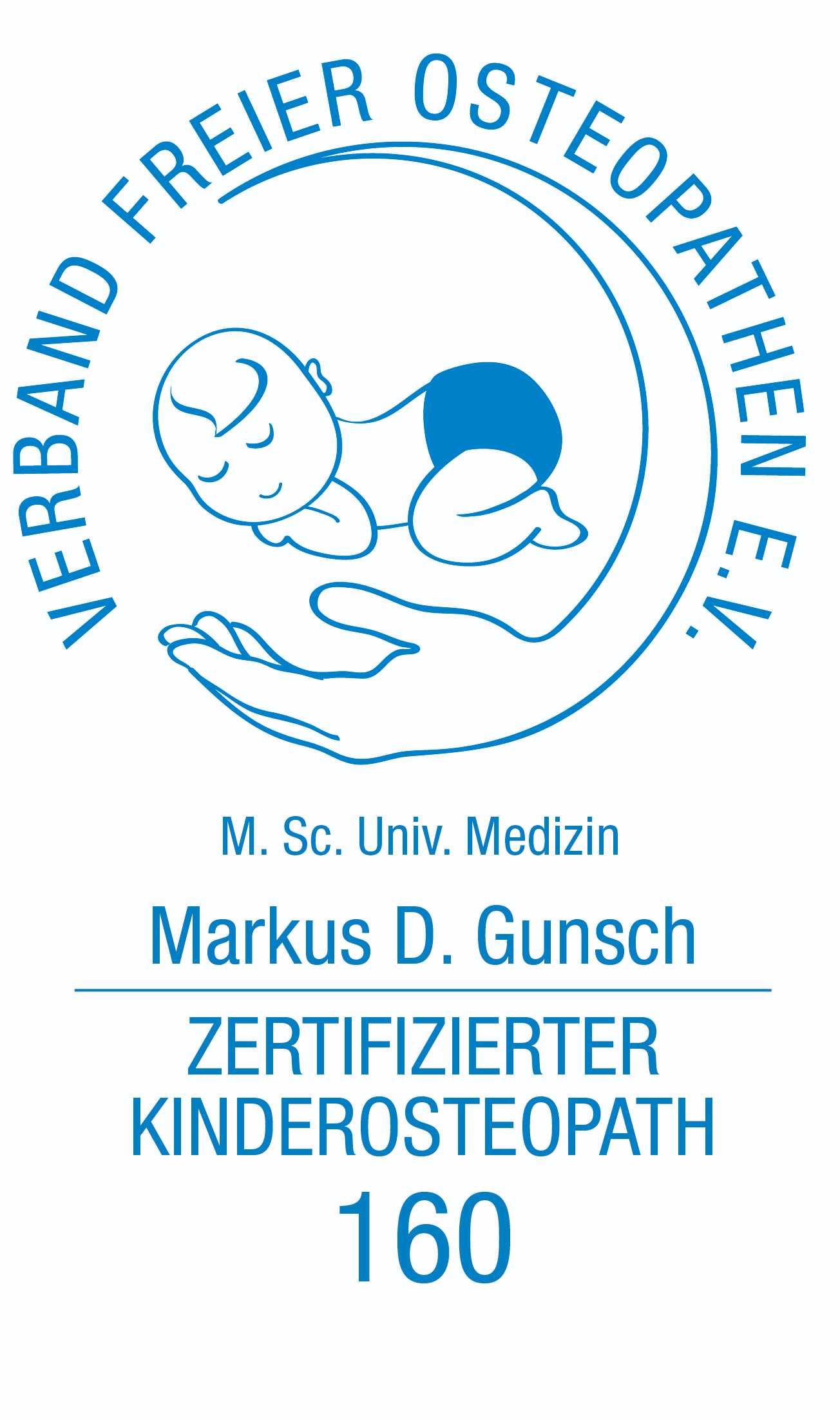 Praxis Gunsch Mitgliedschaft Verband freie Osteopathen e.V. - zertifizierter Kinderosteopath
