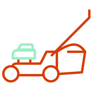 Illustration of a lawn mower