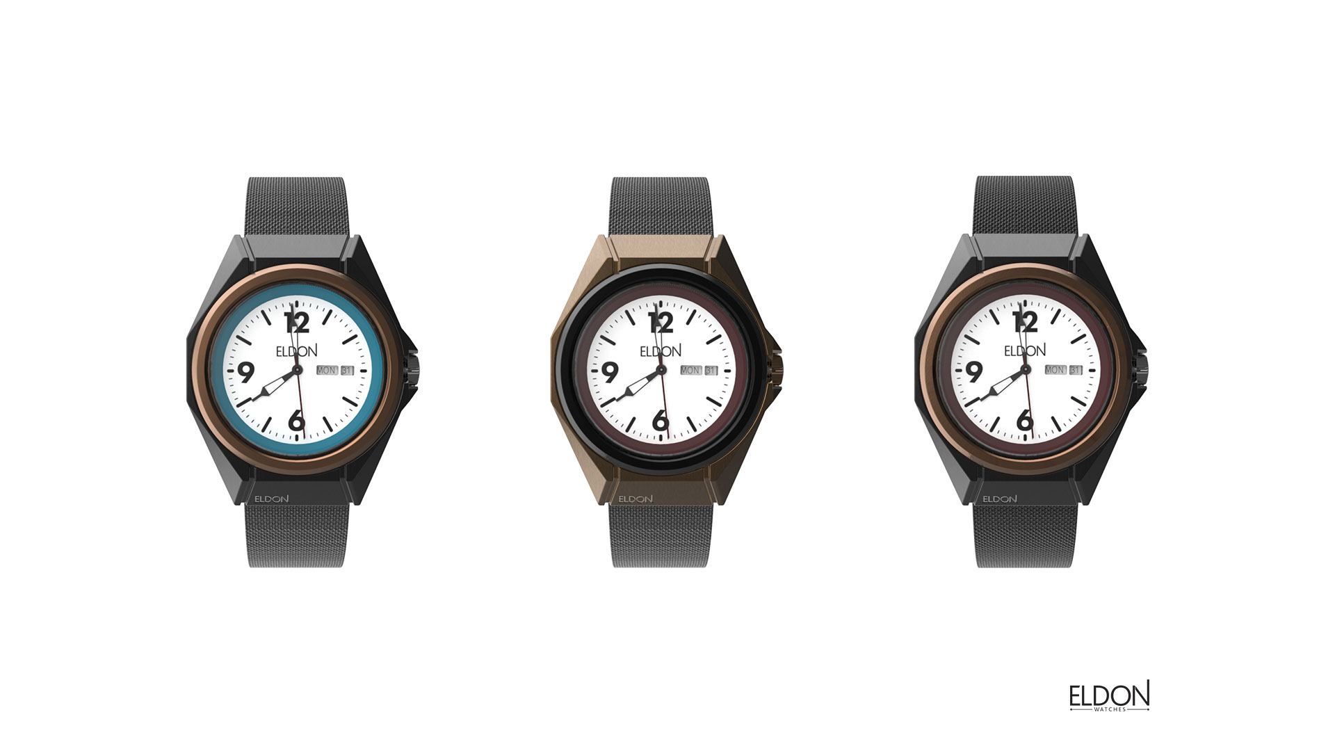 3D renders of watch design