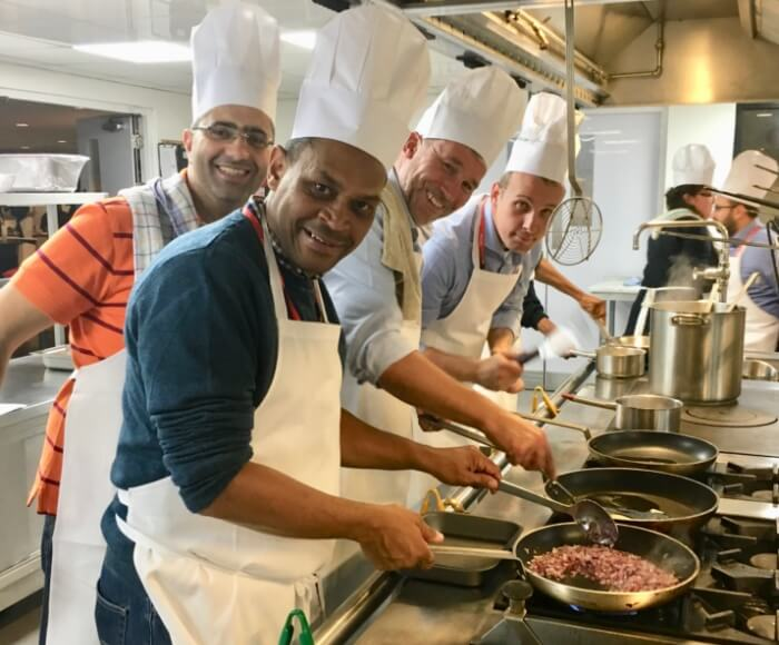 Teambuilding events in our new kitchen