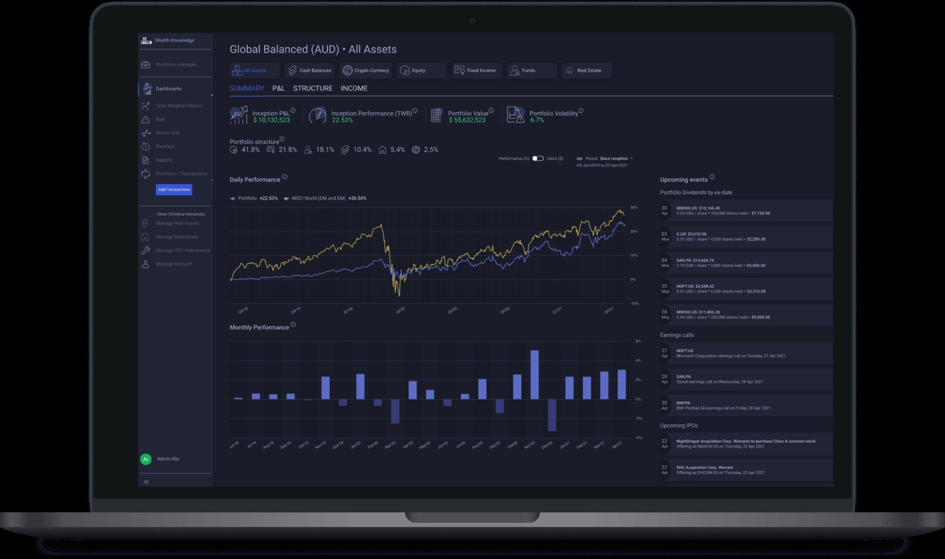 illio portfolio aggregation dashboard