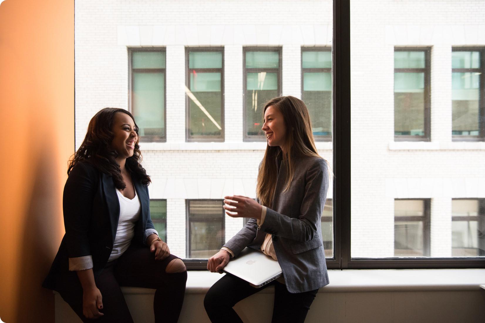 2 women in the office
