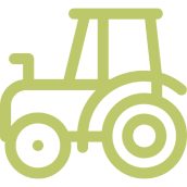 green tractor outline icon