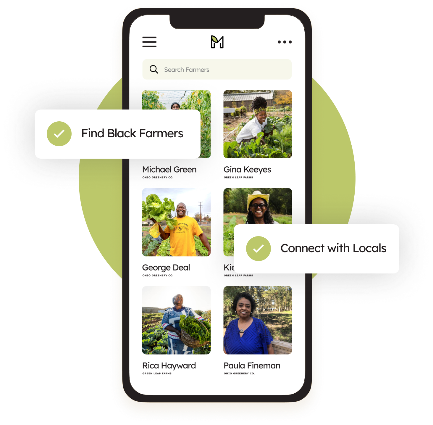 Manomi app on mobile device with features