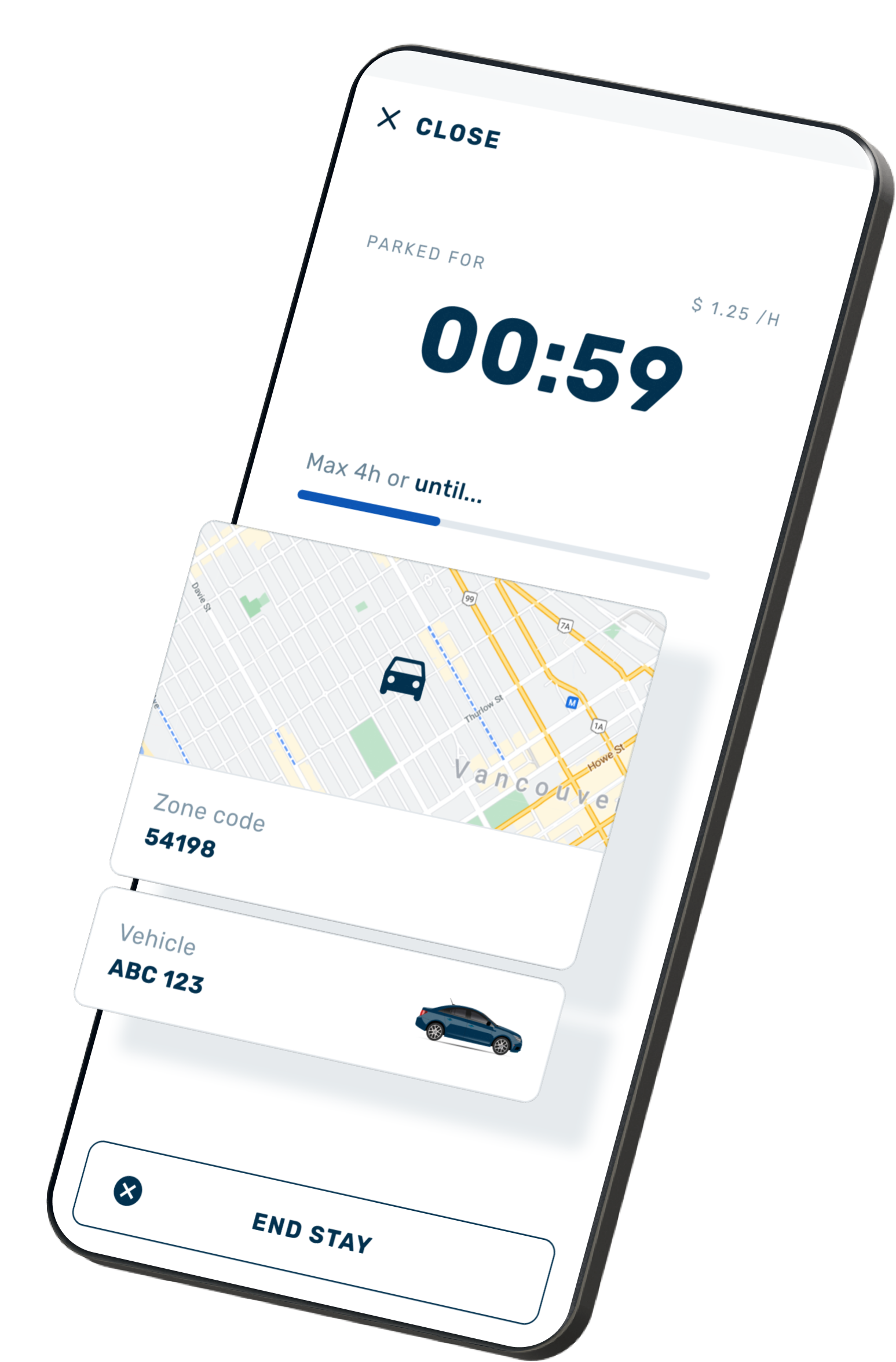 The Virtual Parking App allows Customers to pay for parking from their phones.