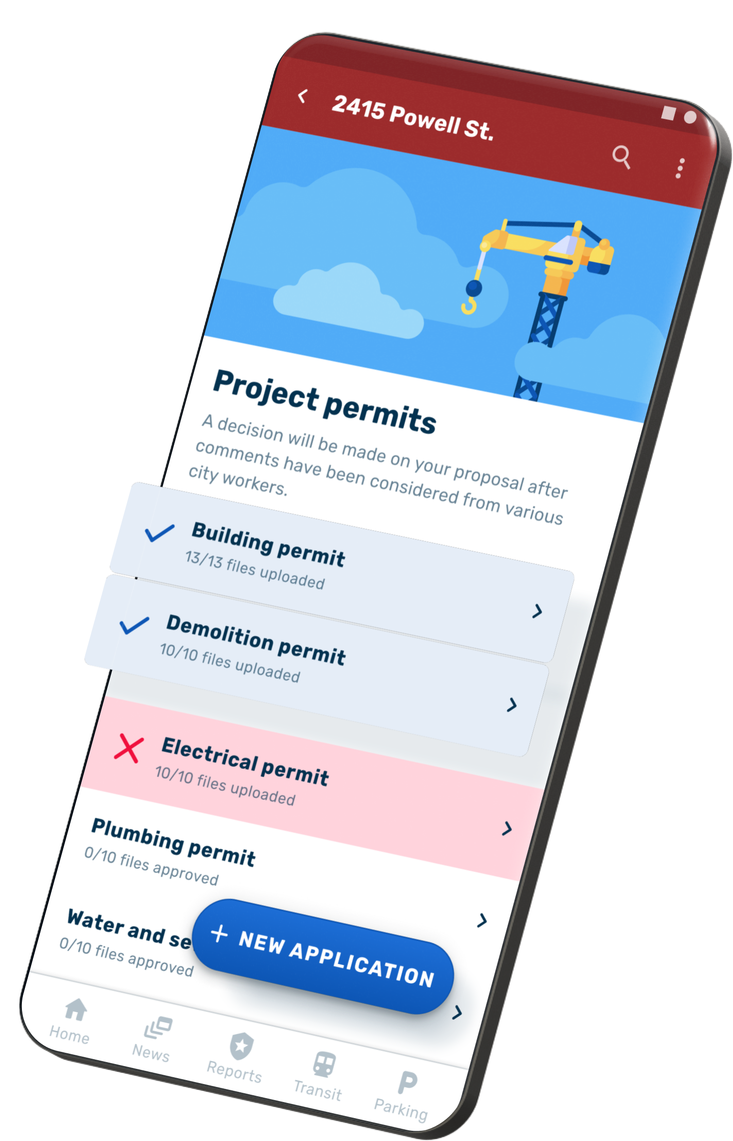 The Development Portal provides a centralized hub for managing e-permit applications, overseeing inspections, and everything else in between.
