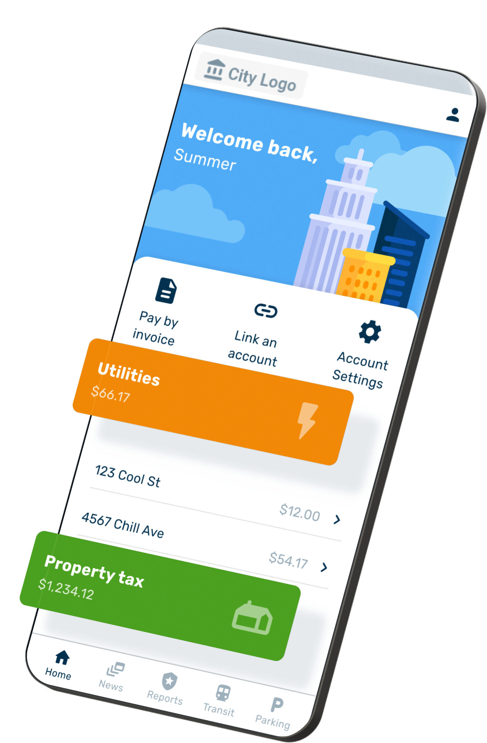 The Smart Living portal allows citizens to look up and manage their payments for taxes, utilities and to request licences and permits.