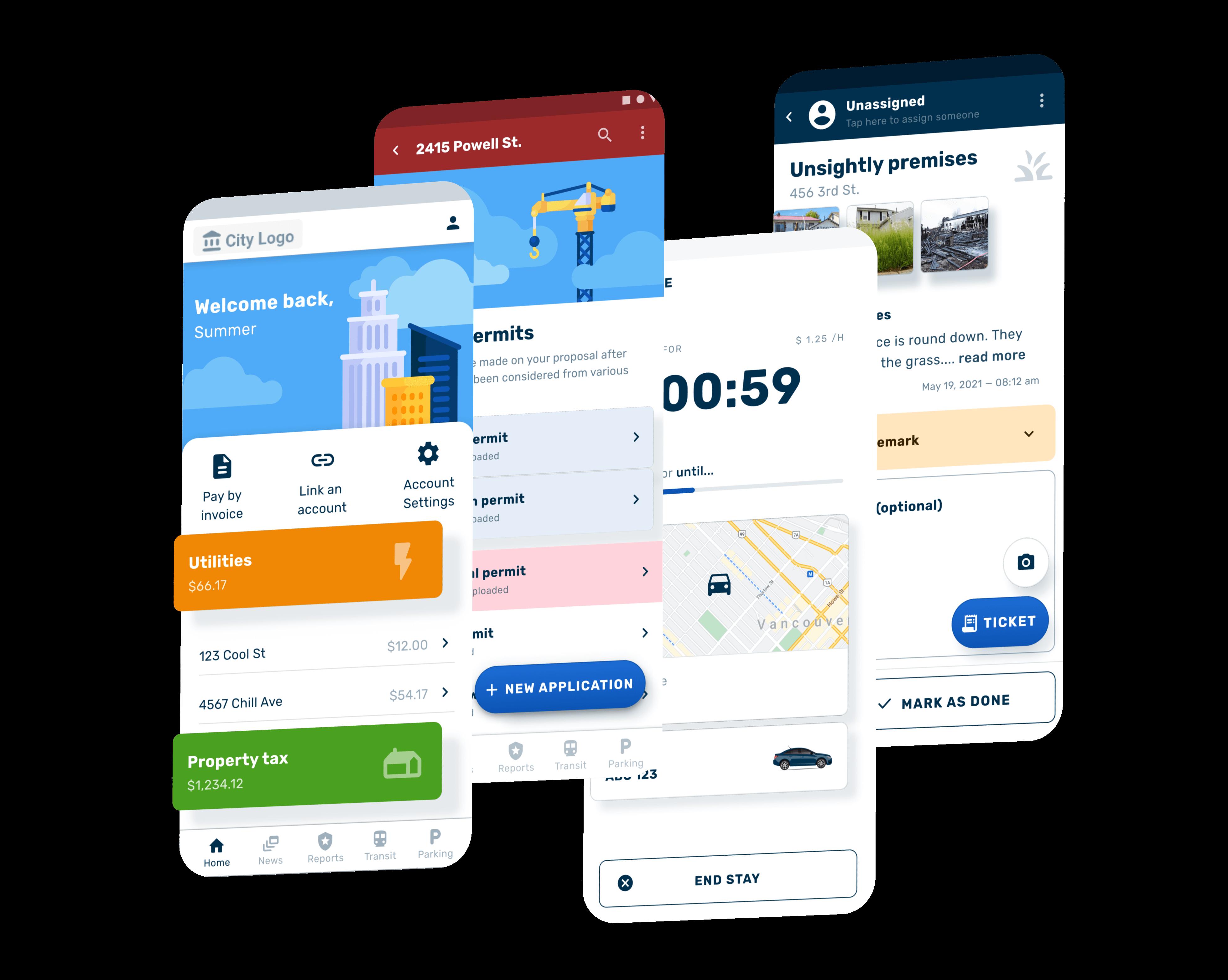 SmartPortal screen previews