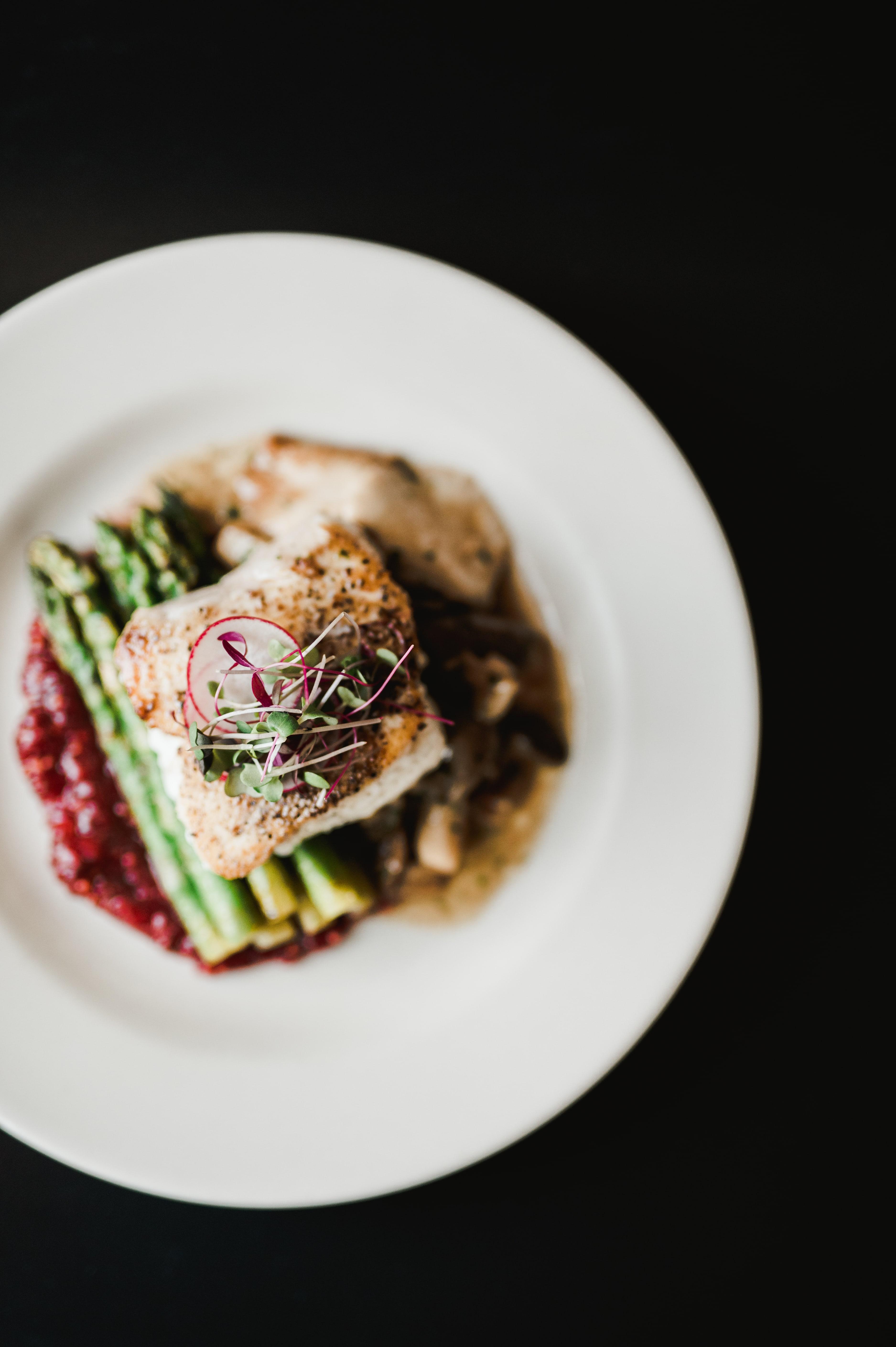 Salmon entree dish