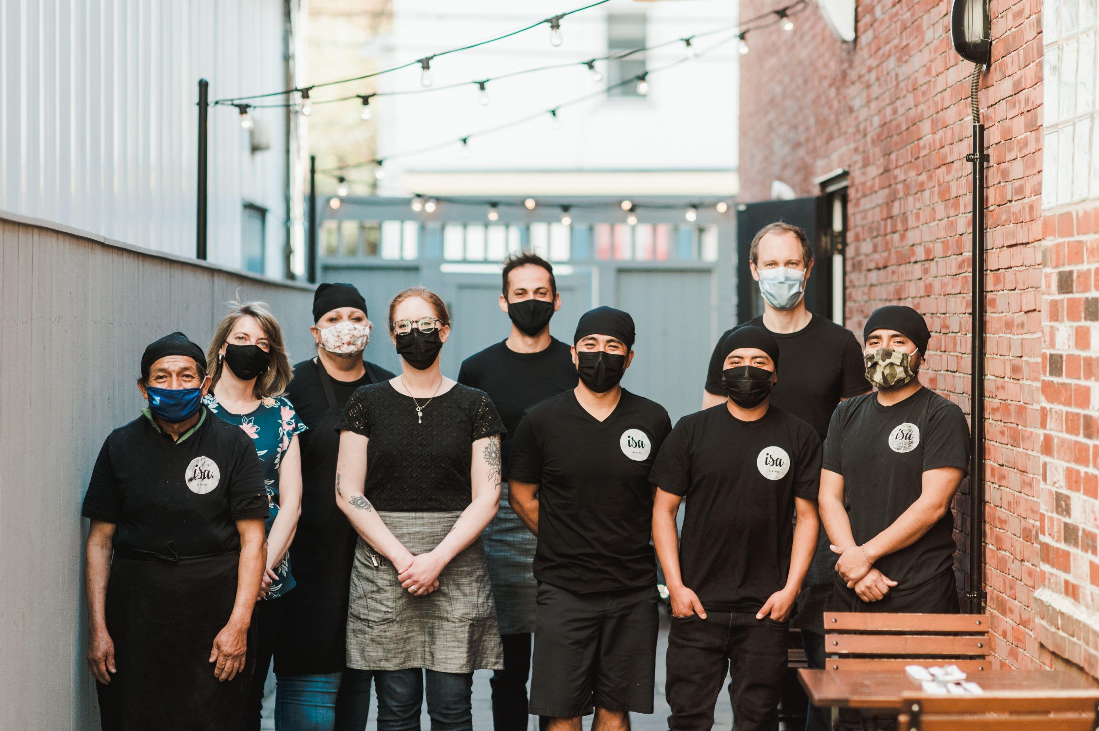 Isa Bistro Team members