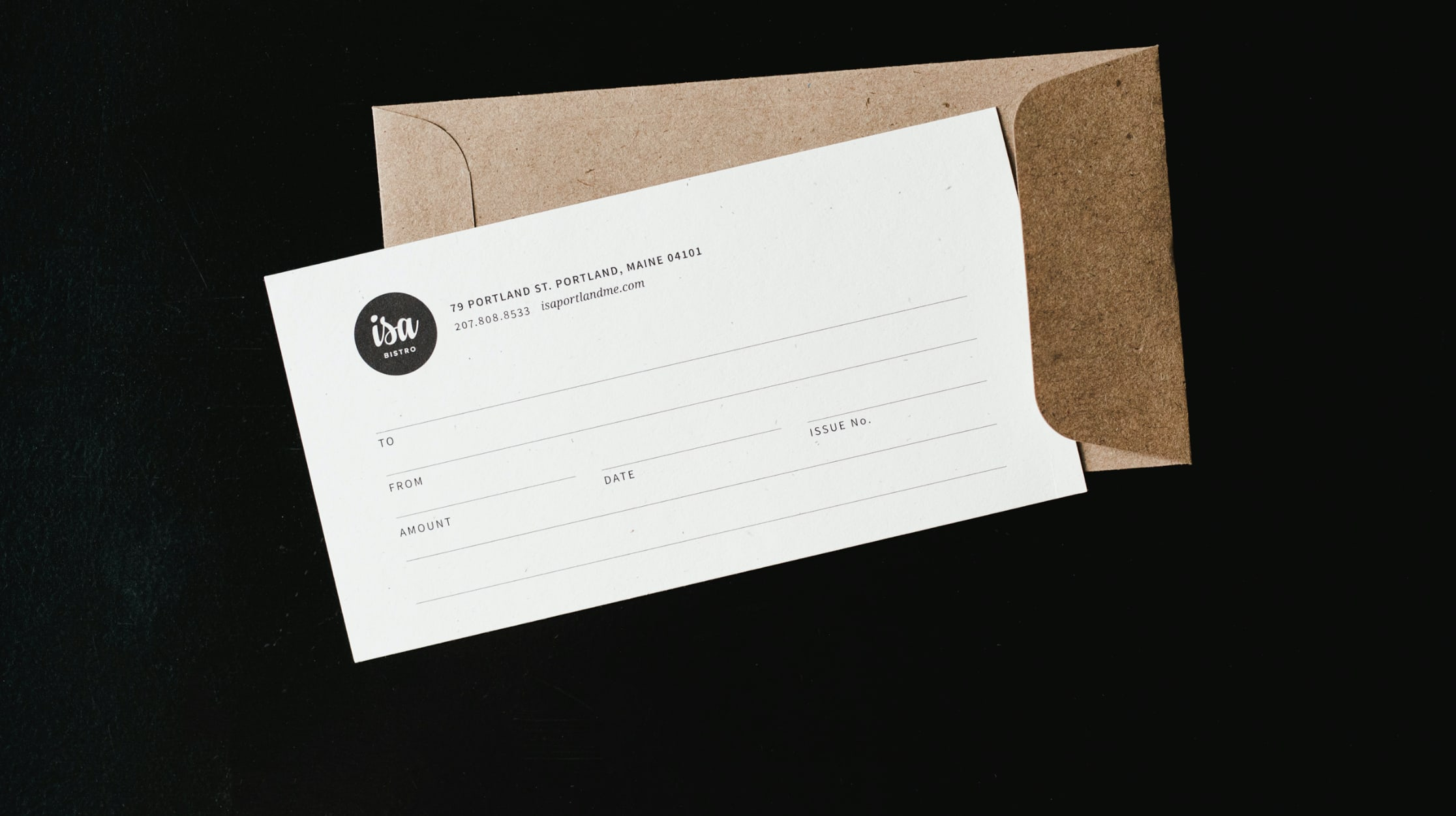 Isa Bistro gift certificate