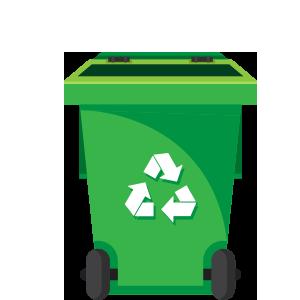 62 gallon trash