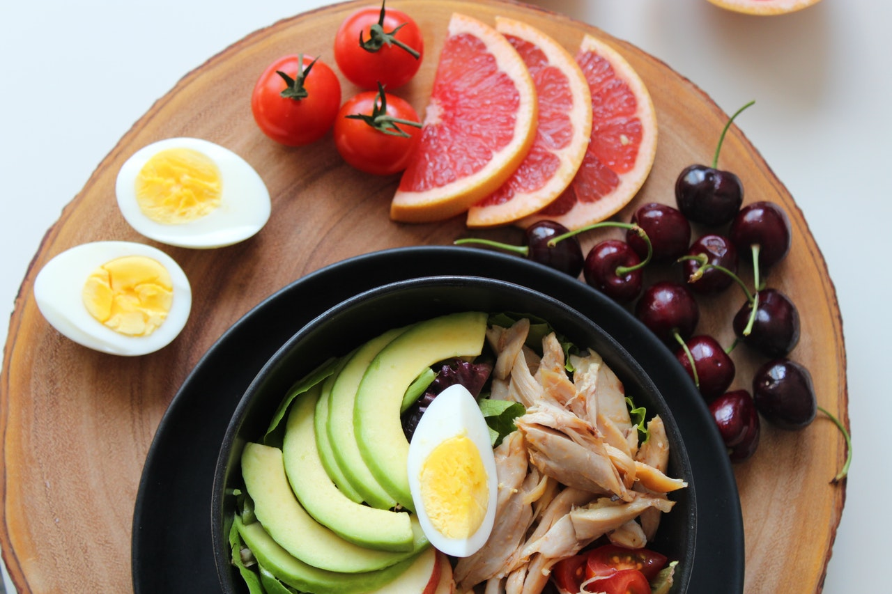 Plate Filled With Healthy Foods