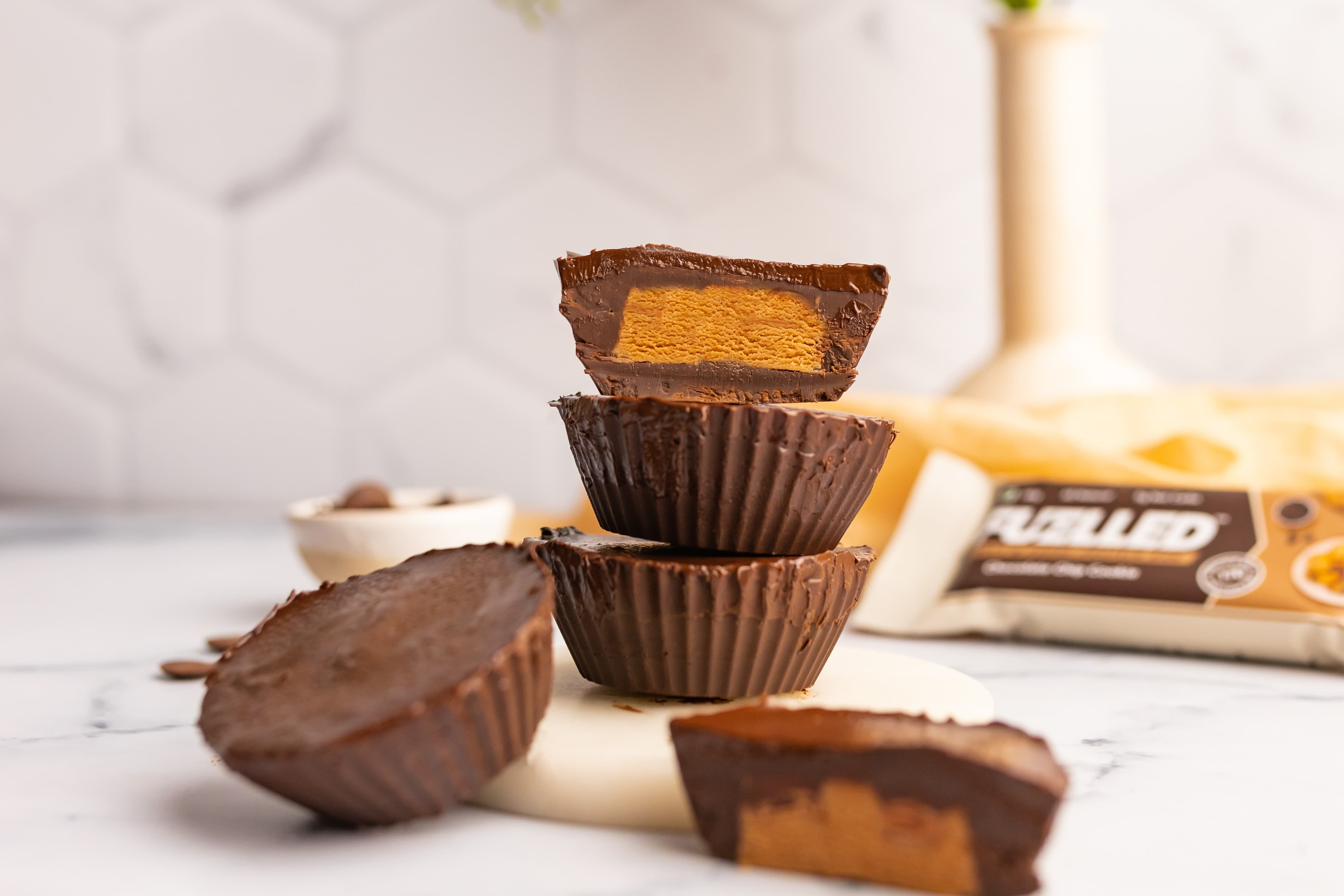 Cookie Dough Cups Made with Fuelled Bars
