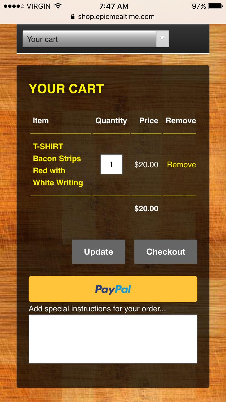 Epic Meal Time mobile cart