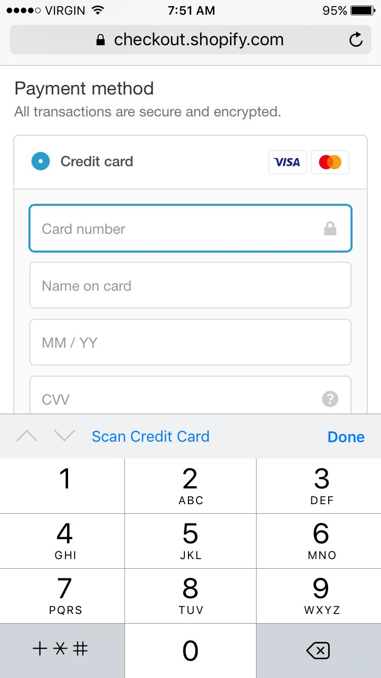 Epic Meal Time mobile payment info