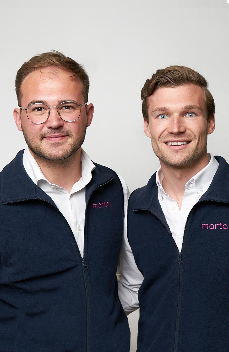 Ein Foto von Philipp Buhr und Jan Hoffman, die Gründer von marta