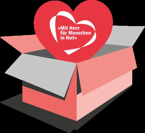 Cartons du Coeur Paket mit Herz