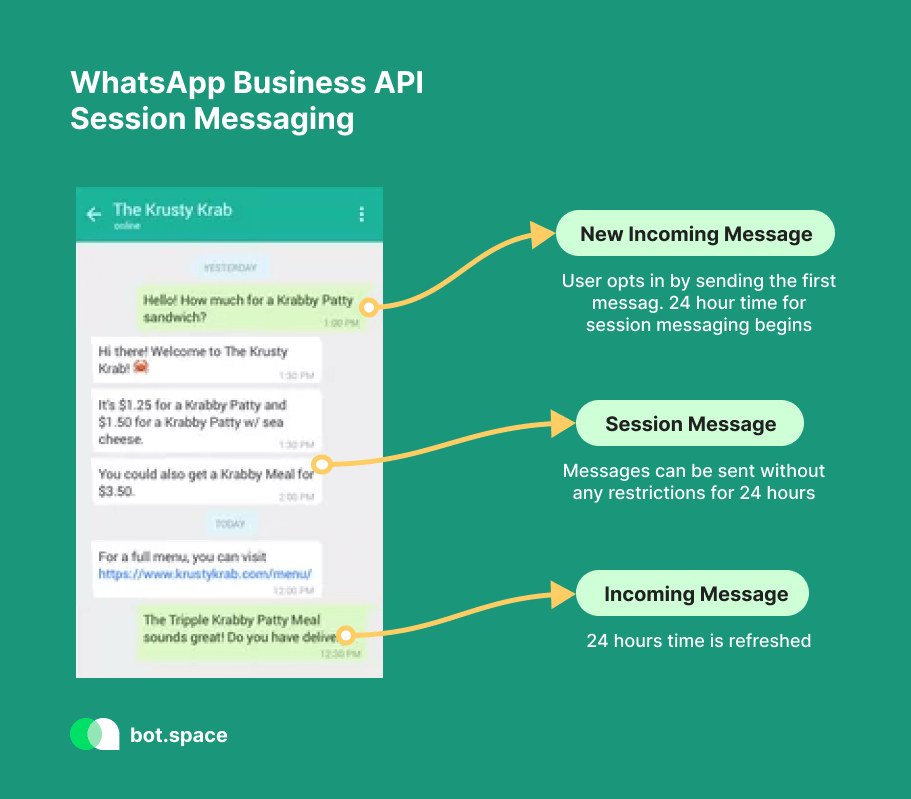 WhatsApp Business API Session Messaging
