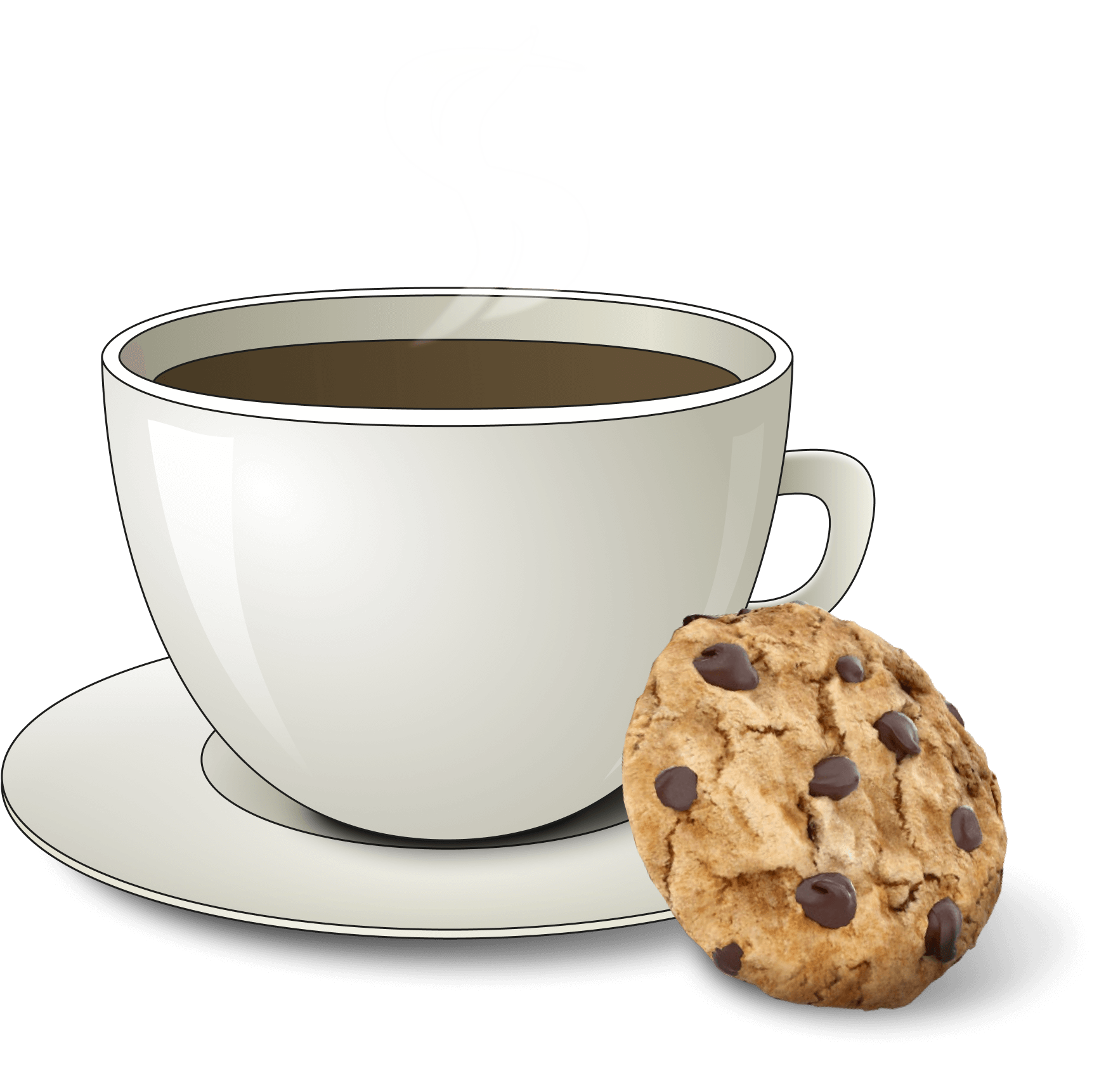 cup of coffee with cookie