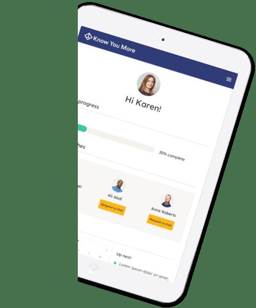 iPad with KYM platform