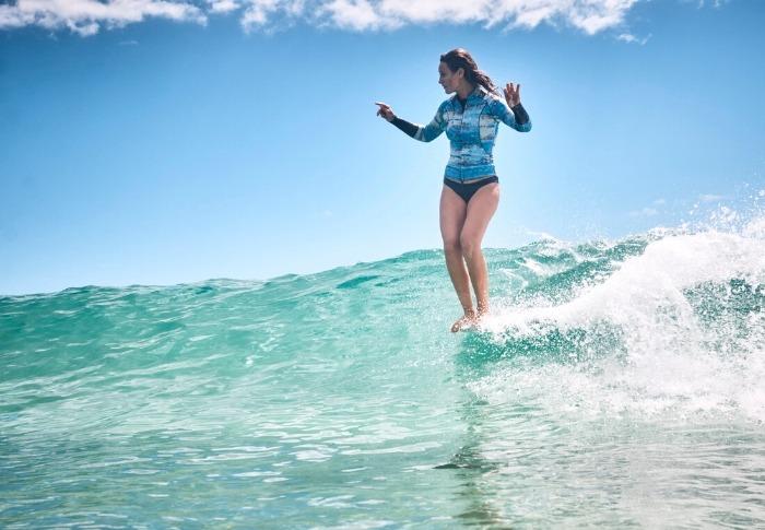 Kassia Meador Surfing