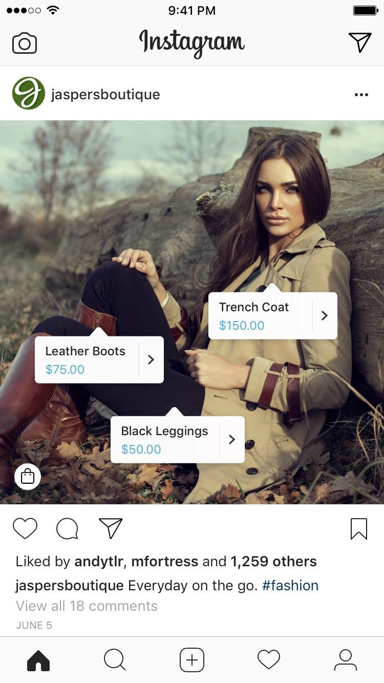 Jaspersboutique instagram account