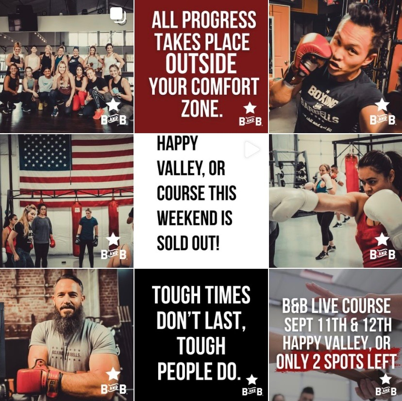 boxing and barbells instagram