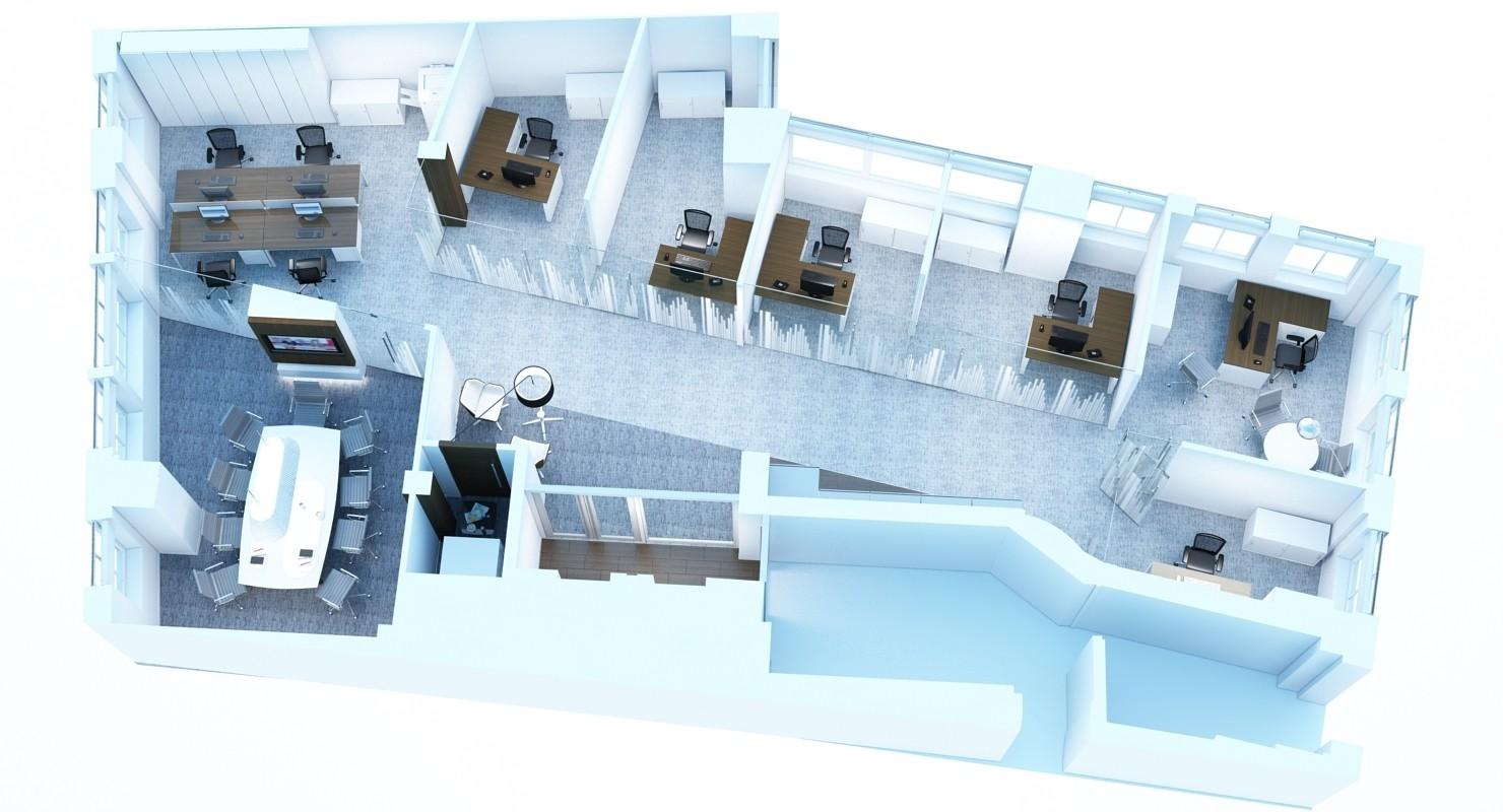 3D rendering top view