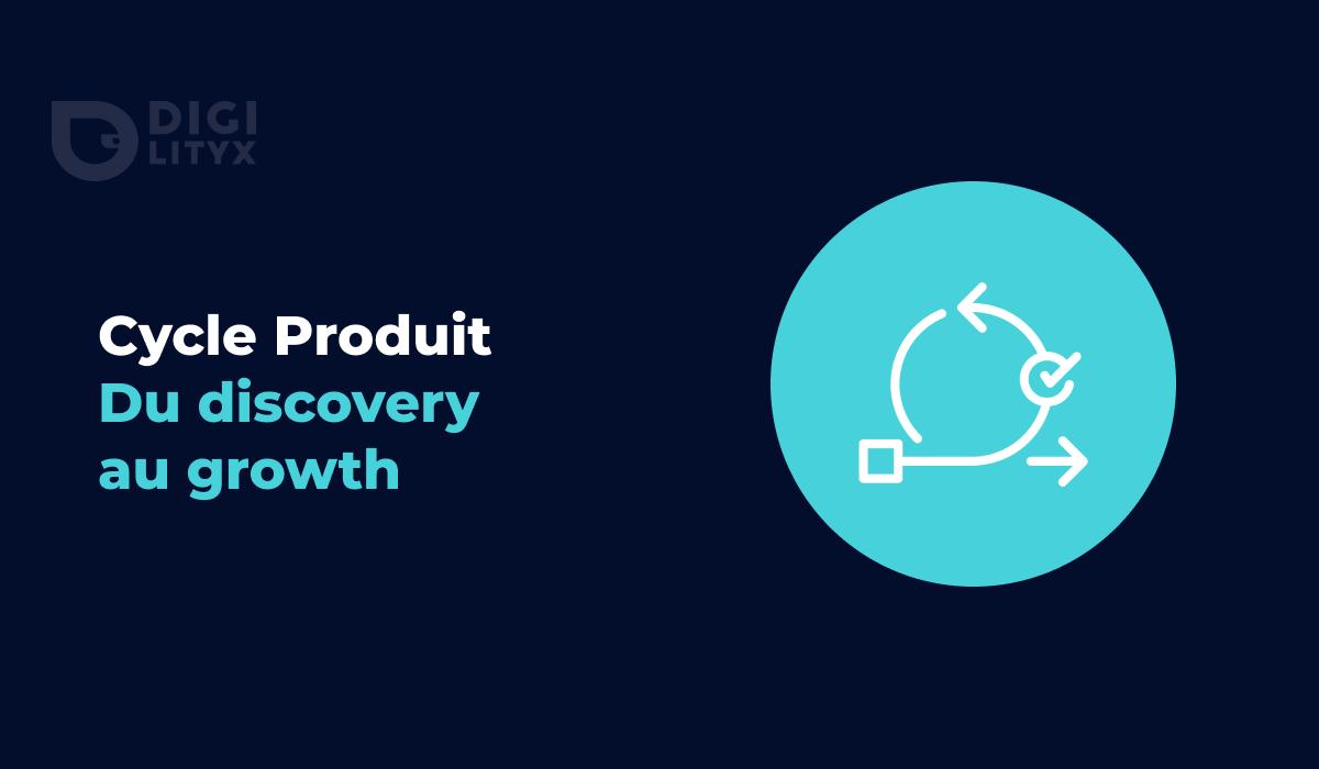 Le cycle produit classique (Discovery, Design, Discovery) ne permettait pas d'assurer l'existence d'un marché avant même d'avoir lancé son produit. Chez Digilityx nous nous sommes approprié ce cycle produit en y intégrant des phases de confrontation de marché mais aussi de recalibrage du produit afin d'assurer le lancement d'une solution réellement attendue par les utilisateurs.
