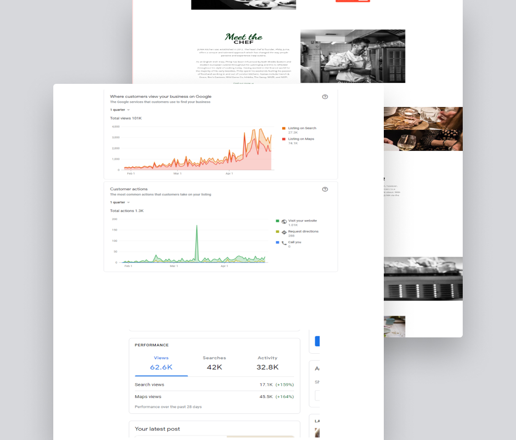 A mockup of a project
