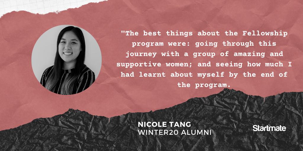 Nicole Tang, Winter20 Fellow