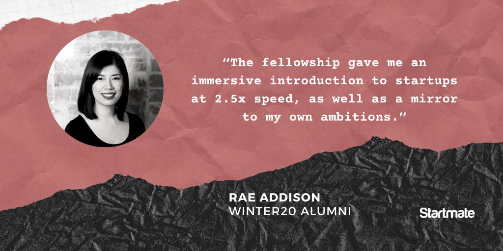 Rae Addison, Winter20 Fellow