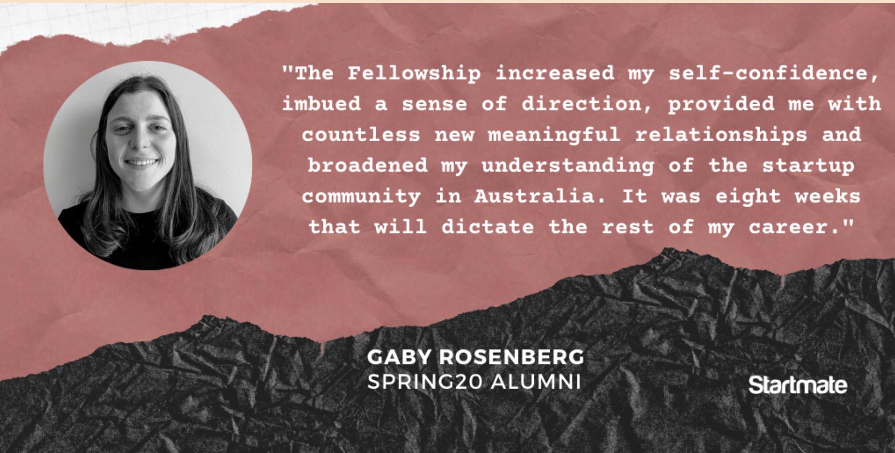 Gaby Rosenberg, Spring20 Fellow