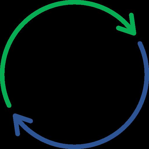 Een icoon van een circulaire wereld bol