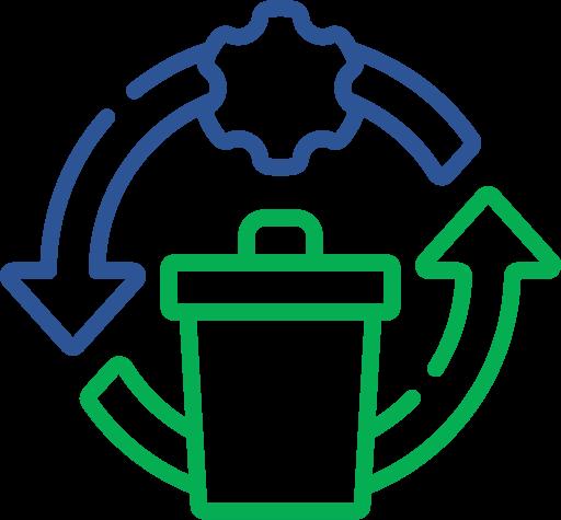 Icoon die recycling weergeeft